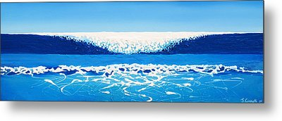 Falling Sea Metal Print by Jaison Cianelli