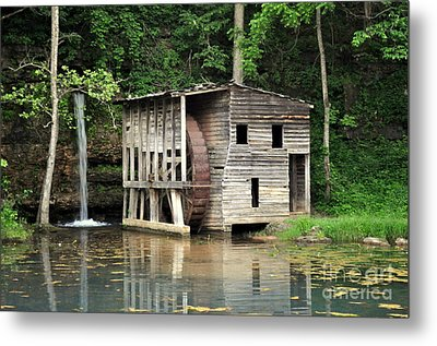 Falling Spring Mill 3 Metal Print by Marty Koch