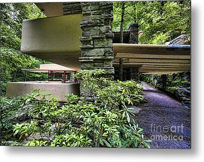 Falling Water Flw Metal Print by Chuck Kuhn
