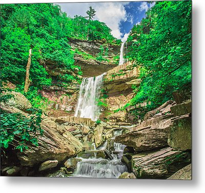 Metal Print featuring the photograph Falling Waters by Paula Porterfield-Izzo