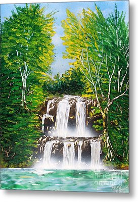 Metal Print featuring the painting Falls 01 by Greg Moores