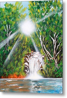 Metal Print featuring the painting Falls 03 by Greg Moores