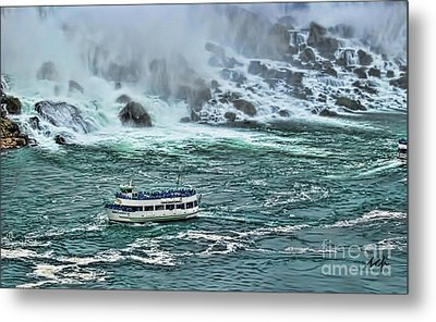 Metal Print featuring the photograph Falls Boat by Traci Cottingham