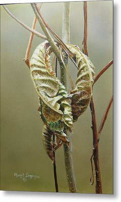 Metal Print featuring the painting Fall's Embrace  by Margit Sampogna