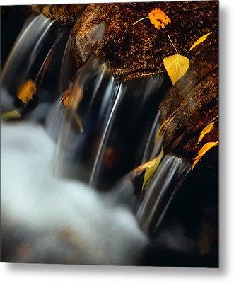 Falls Of Autumn Metal Print by Steven Milner