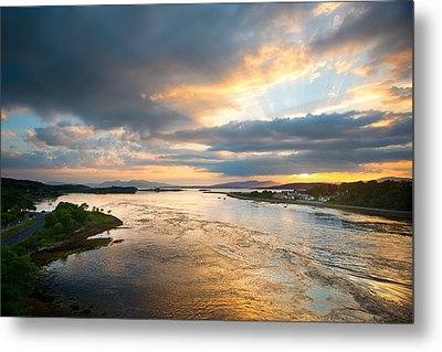 Falls Of Lora Metal Print