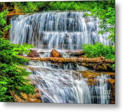 Metal Print featuring the photograph Falls On Sable Creek by Nick Zelinsky