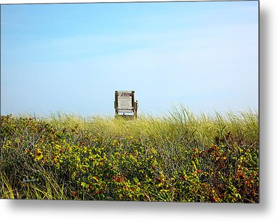 Metal Print featuring the photograph Falmouth Beach Open 9-5 by Madeline Ellis