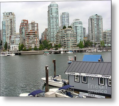 Metal Print featuring the painting False Creek Vancouver by Rod Jellison