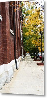 Familair Streets To An Old Women Metal Print by Jamie Lynn