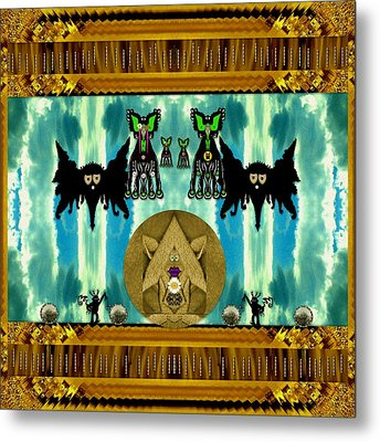 Family Dracula With Friends Metal Print