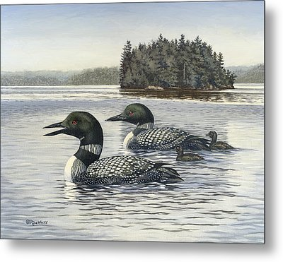 Family Outing Metal Print by Richard De Wolfe