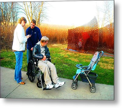 Family Outing  Metal Print by Ward Smith