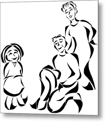 Family Time Metal Print