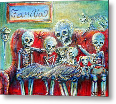 Metal Print featuring the painting Family Time by Heather Calderon