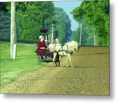 Family Time Metal Print by Tina M Wenger