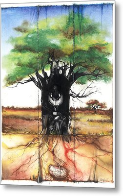 Metal Print featuring the mixed media Family Tree by Anthony Burks Sr