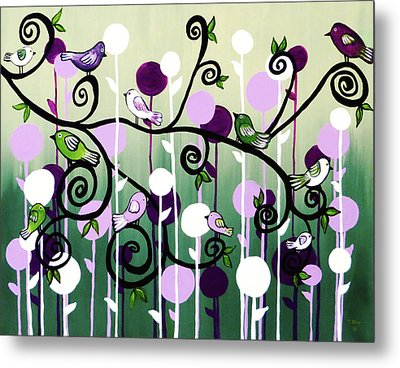 Metal Print featuring the painting Family Tree by Teresa Wing