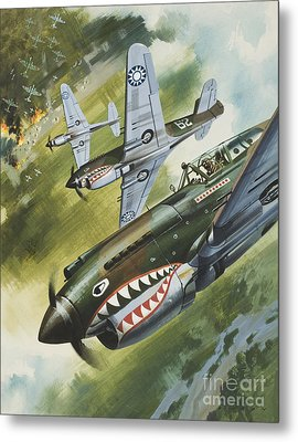 Famous Aircraft And Their Pilots Metal Print