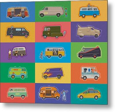 Famous Vans Metal Print