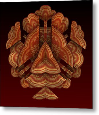 Metal Print featuring the digital art Fan Dance by Lyle Hatch
