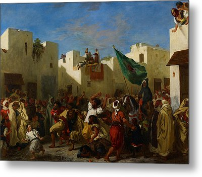 Fanatics Of Tangier Metal Print by Eugene Delacroix