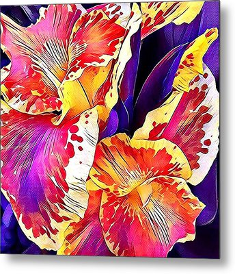Metal Print featuring the photograph Fanciful Canna  by Heidi Smith