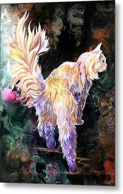 Metal Print featuring the painting Fancy Britches by Sherry Shipley
