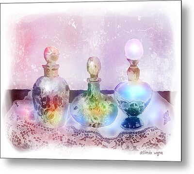 Fancy Perfume Bottles Metal Print by Arline Wagner