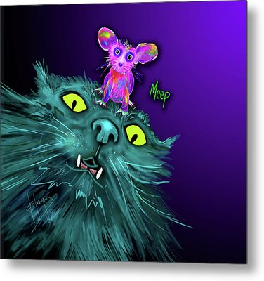 Fang And Meep  Metal Print by DC Langer
