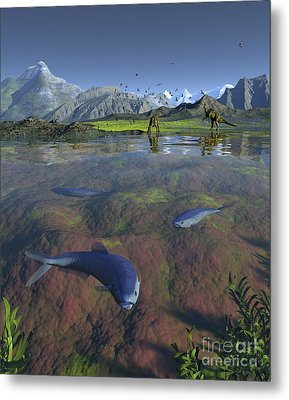 Fanged Enchodus Predatory Fish Metal Print by Walter Myers