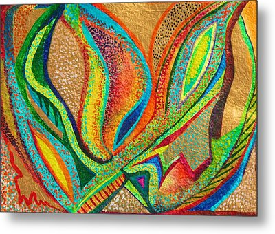 Metal Print featuring the painting Fanning Flames by Polly Castor