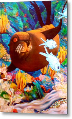 Fantasea Metal Print by Barbara Stirrup
