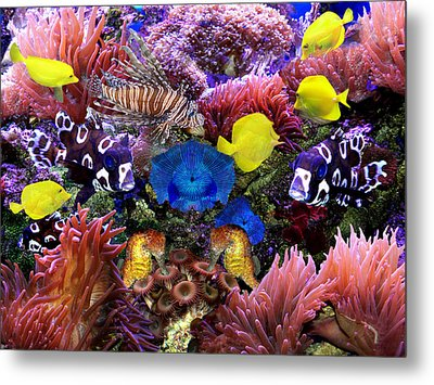 Fantasy Aquarium Metal Print