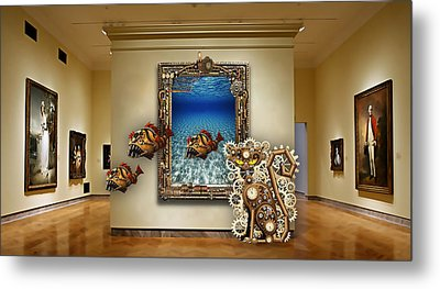 Fantasy Art Museum Collection Metal Print by Marvin Blaine
