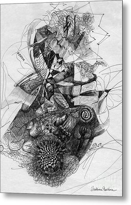Fantasy Drawing 2 Metal Print by Svetlana Novikova