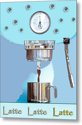 Fantasy Espresso Machine Metal Print by Marian Cates