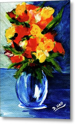 Fantasy Flowers #117 Metal Print by Donald k Hall