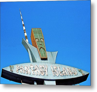 Metal Print featuring the photograph Fantasy Island Sign by Matthew Bamberg