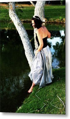 Fantasy Princess And The Pond Metal Print