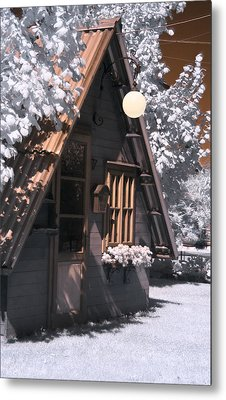 Fantasy Wooden House Metal Print by Helga Novelli