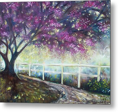 Metal Print featuring the painting Fantasy Tree by Emery Franklin
