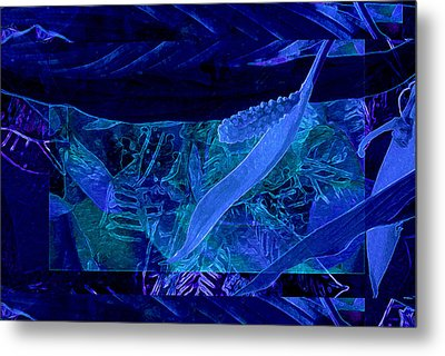 Fantasy With African Violets And Peace Lily 40 Metal Print