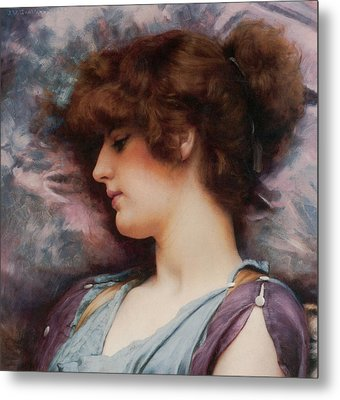 Far Away Thoughts Metal Print by John William Godward