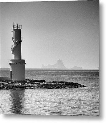 Far De La Savina Lighthouse, Formentera Metal Print by John Edwards