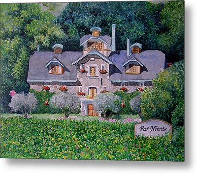 Metal Print featuring the painting Far Niente Winery by Gail Chandler