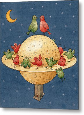 Far Planet Metal Print by Kestutis Kasparavicius