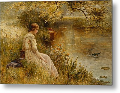 Faraway Thoughts Metal Print by Ernest Walbourn