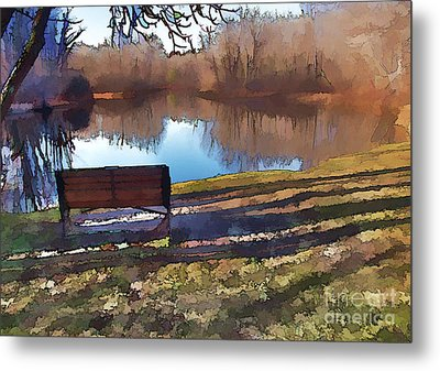 Metal Print featuring the photograph Farewell Fishing by Betsy Zimmerli