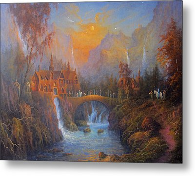 Farewell To Rivendell The Passing Of The Elves Metal Print by Joe  Gilronan